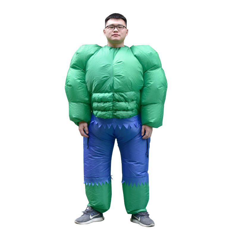Inflatable Hulk Costume for Women Men Adult The Green Giant Blow Up Suit Superhero Halloween Party Carnival Cosplay Fancy Dress