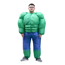 Inflatable Hulk Costume for Women Men Adult The Green Giant Blow Up Suit Superhero Halloween Party Carnival Cosplay Fancy Dress цена