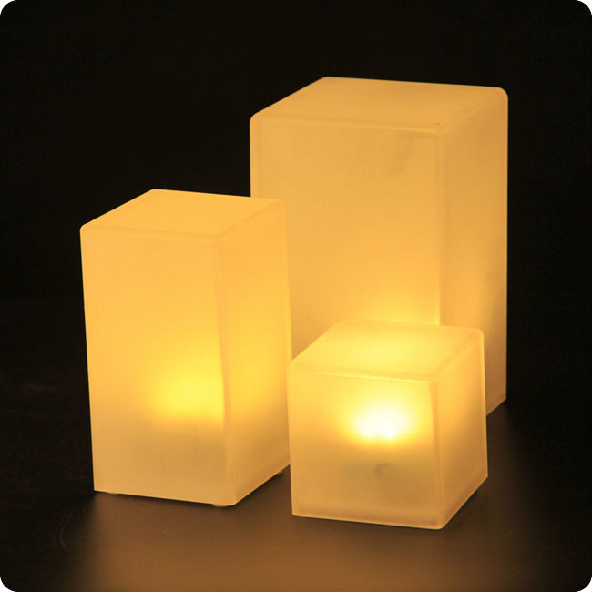 80*140mm 500ma Battery Operated LED Cube Lights 7 color changing / set  single color for Coffee Bar Table Free Shipping 10pcs/Lot-in Night Lights  from Lights ... - 80*140mm 500ma Battery Operated LED Cube Lights 7 Color Changing