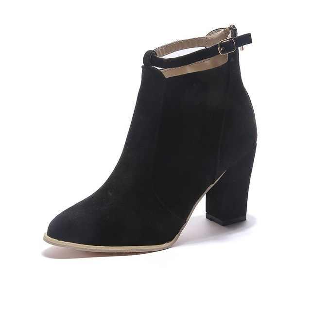 SZSGCN428-2019; Новинка; сезон осень-зима; модные женские ботинки; женские кожаные ботильоны на высоком каблуке; пикантные новые ботинки с острым носком
