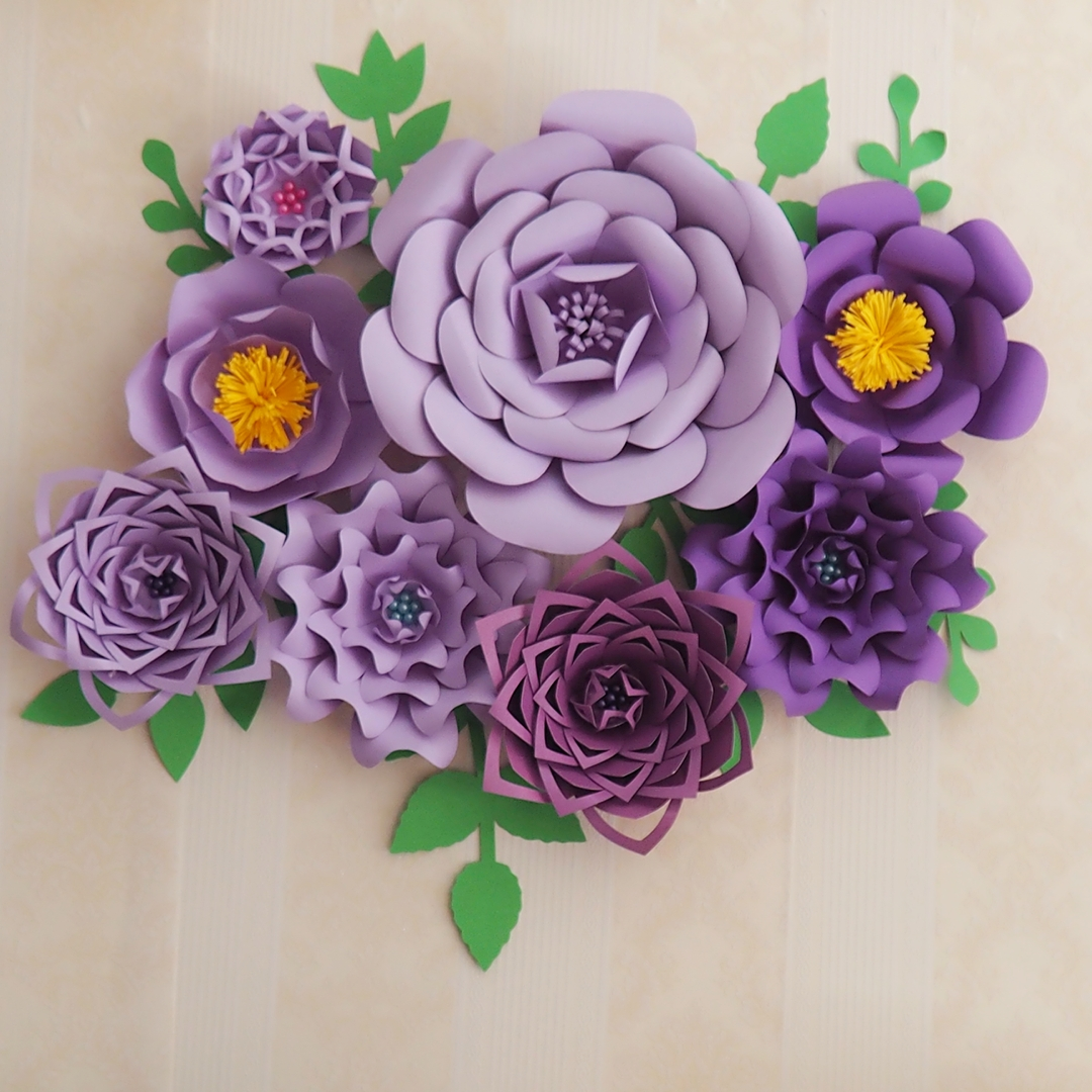 Aliexpress Buy 2018 Lilac Purple Diy Half Made 8pcs Giant