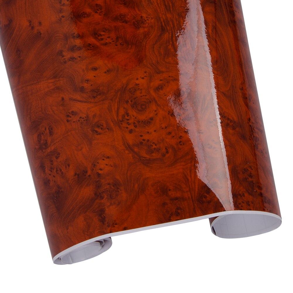 124cm * 100cm Rode Hoge Glanzende Auto Wrap Sticker Behang Vinyl Meubels Tafel Sticker Bescherming Houtnerf Vinyl PVC Materiaal-in Decoratief folie van Huis & Tuin op  Groep 1