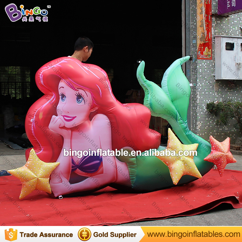 2.5m Inflatable Mermaid Cartoon Character decor for Ocean theme, marine theme Inflatable Mermaid decor Balloon monkey foil balloon auto seal reuse party wedding decor inflatable gift for children
