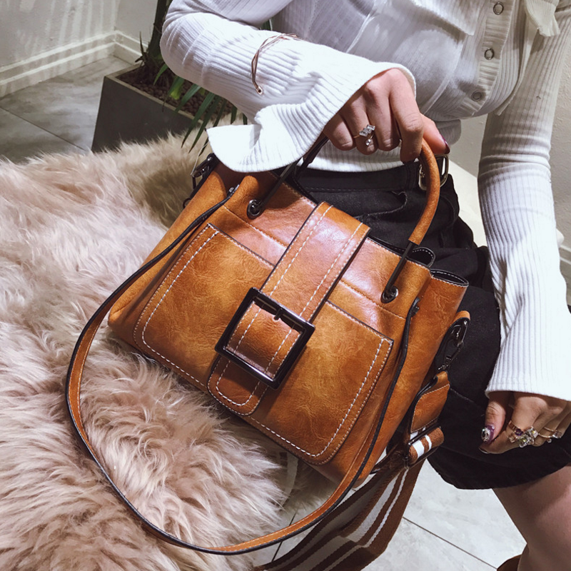 New European and American style vintage PU women handbag shoulder bag messenger bag 68