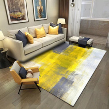 Fashion Modern Abstract Art Watercolor Yellow Grey Door Mat Rugs And Carpets For Home Living Room Bedroom Rugs Floor mats