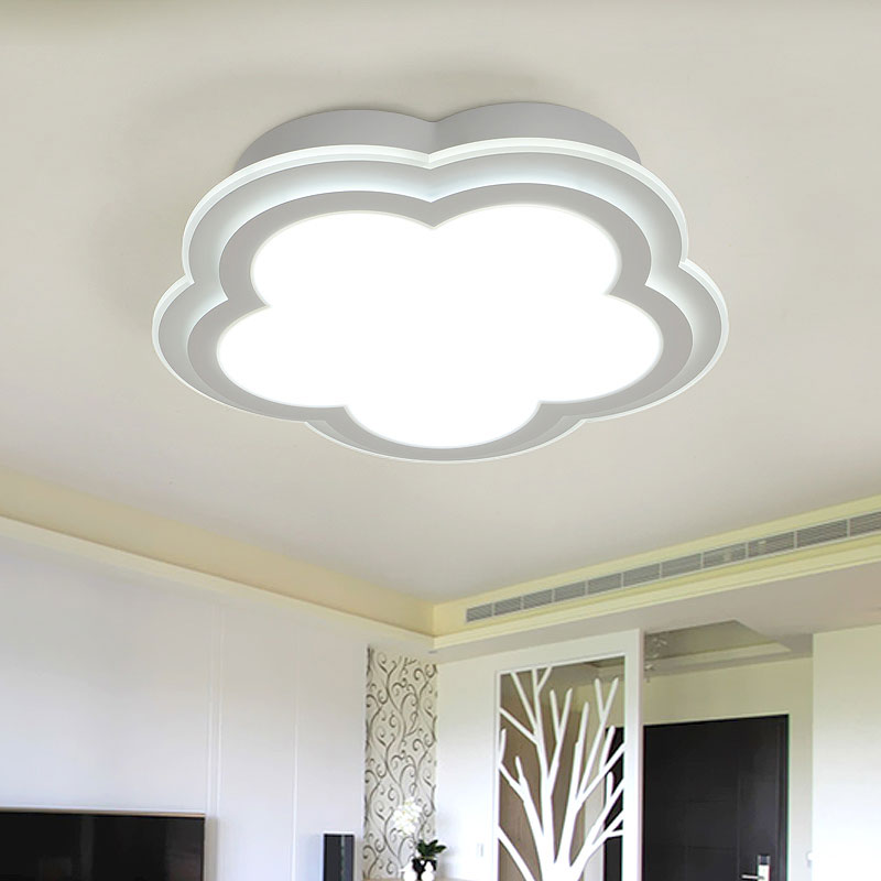 Modern Flower Acrylic Remote Control Ceiling Lights Living Room Bedroom LED Lamp Home Decor Lighting White Iron AC 110-220V modern remote control led lamp ceiling light fixture living room bedroom christmas decoration for home lighting white metal 220v