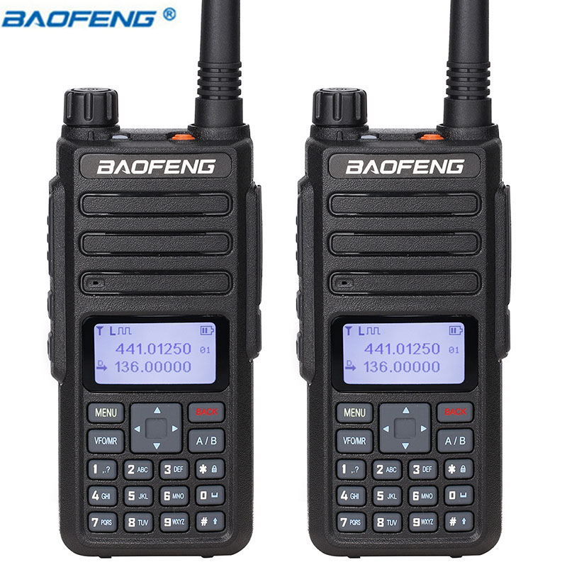 2Pcs Baofeng DM 860 Digital Walkie Talkie dm1801 2200mAh Dual Time Slot tier2 1 tier ii