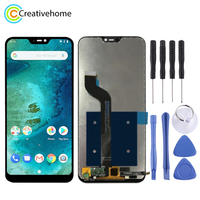 High Quality LCD Screen and Digitizer Full Assembly Lcd Replacement Glass For Xiaomi Redmi 6 Pro (Mi A2 Lite)