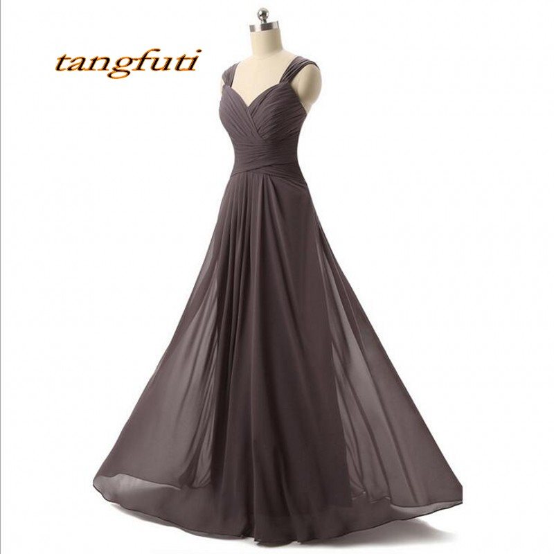 Long Chiffon   Bridesmaid     Dresses   A Line Floor Length Cheap Women Formal   Dress   Wear Party   Dresses   Gowns Wedding Guest   Dress