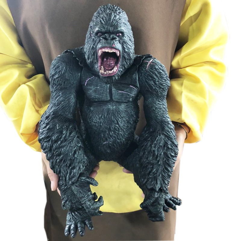 Big Size 35cm King Kong Skull Lsland Gorilla Monkey Figure Model Toys