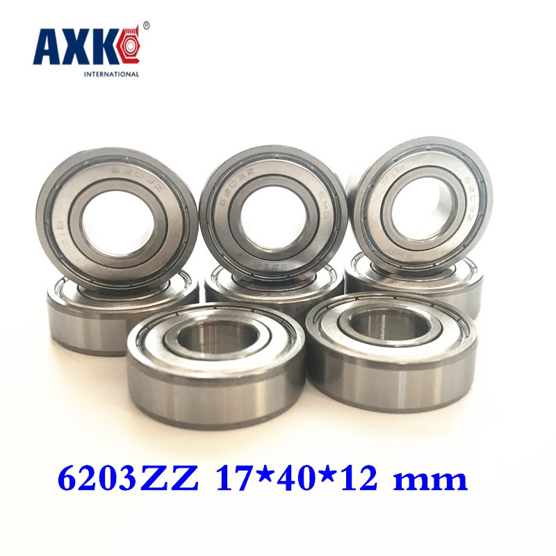 2019 Time-limited Real Rolamentos Thrust Bearing 10pcs Free Shipping Miniature Deep Groove Ball Bearing 6203zz 17*40*12 Mm image