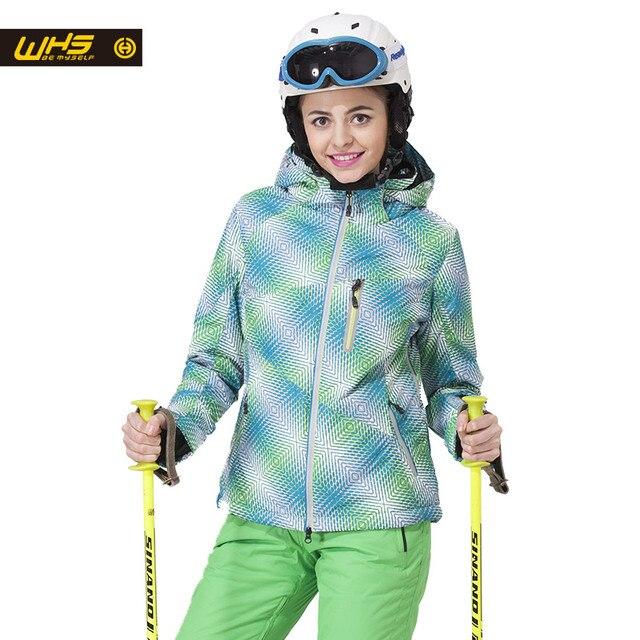 WHS Новинка 2017 года Для женщин Лыжная Куртки ветрозащитный леди теплое пальто женские зимние куртка Подростковая тонкая одежда женская теплая куртка