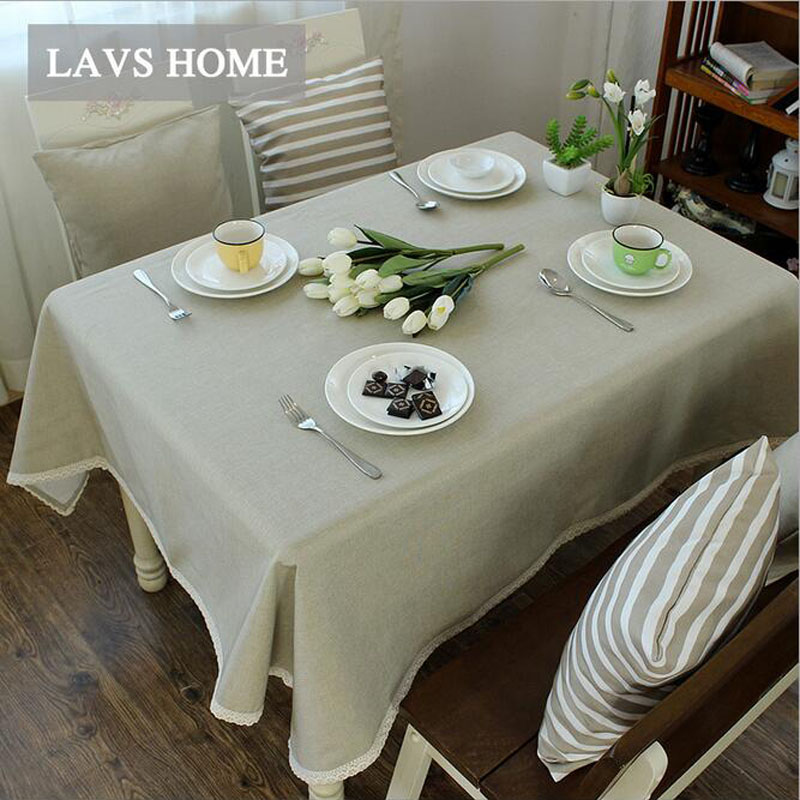 Hot Europe Linen Cotton Striped Table Cloth Party Tablecloth Printed  Dustproof Table Covers Coffee Oil Cloth