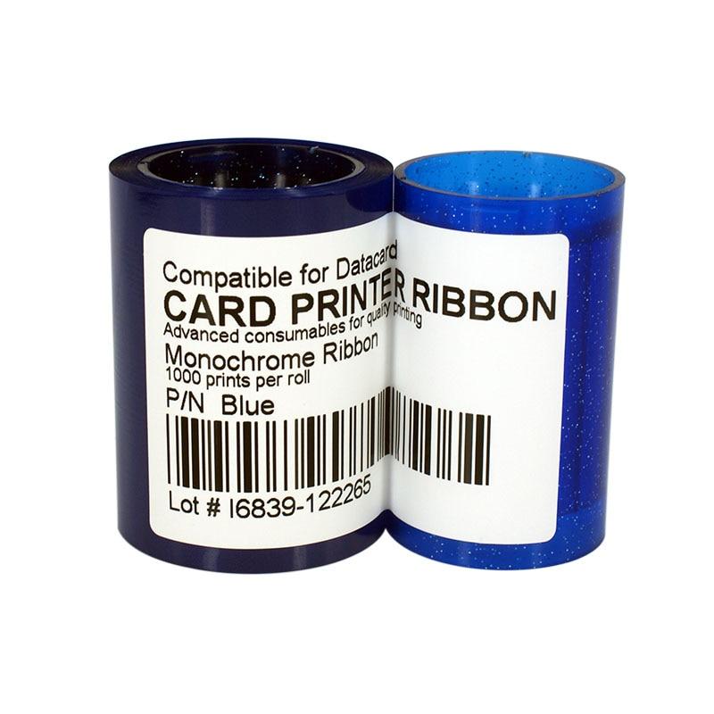 Printer Ribbon DC285B Blue Color Ribbon 1000prints/roll For Datacard SP25 SP30 SP35 SP55 SP75 CP40 CP60 CP80 roland carriage board for sp 300 sp 300v sp 540 sp 540v printer