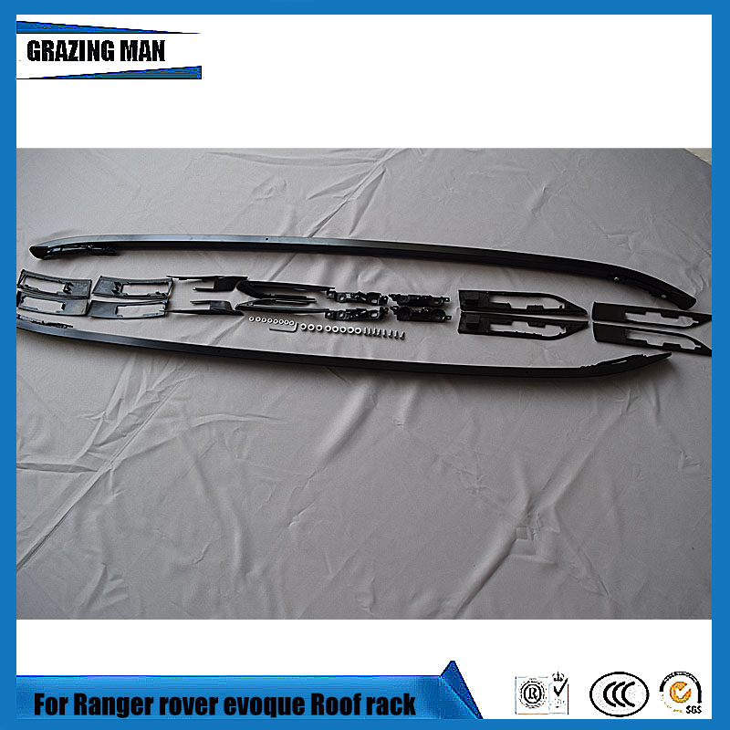 Высокое качество алюминиевого сплава черный, серебристый цвет сбоку железнодорожных Бар Багажник для Range rover Evoque 2012 2013 2014 2015 2016 2017