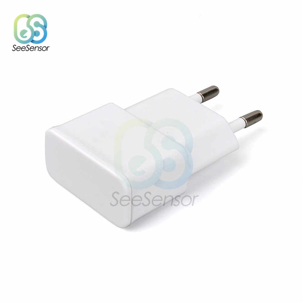 5V 2A EU US USB Plug White Black Wall Charger 1 Port Fast Charging Travel Adjustment Power Adapter Electrical Plug for Mobile