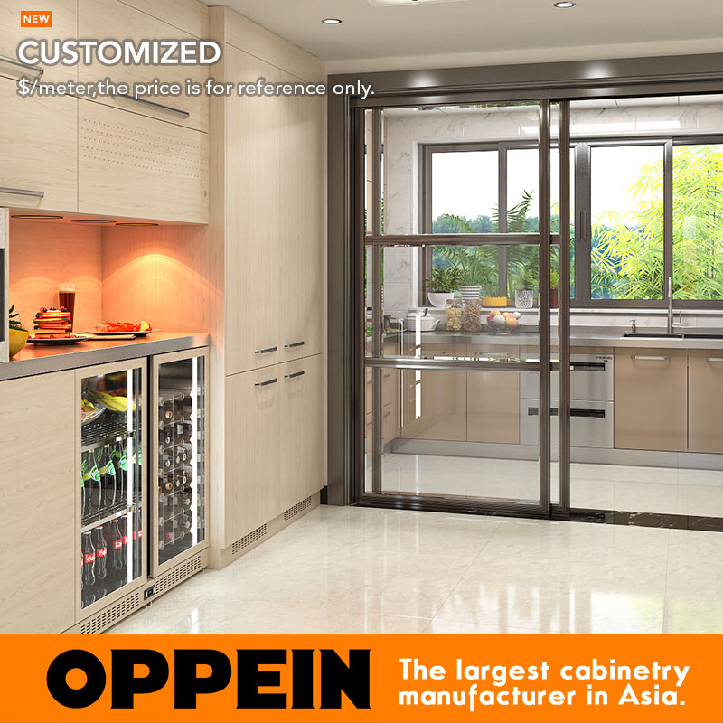 US $959.0 |Oppein Wet and Dry Stainless Steel Kitchen Cabinet with  Stainless Steel Countertop (OP17 ST02)-in Kitchen Cabinets from Home  Improvement on ...