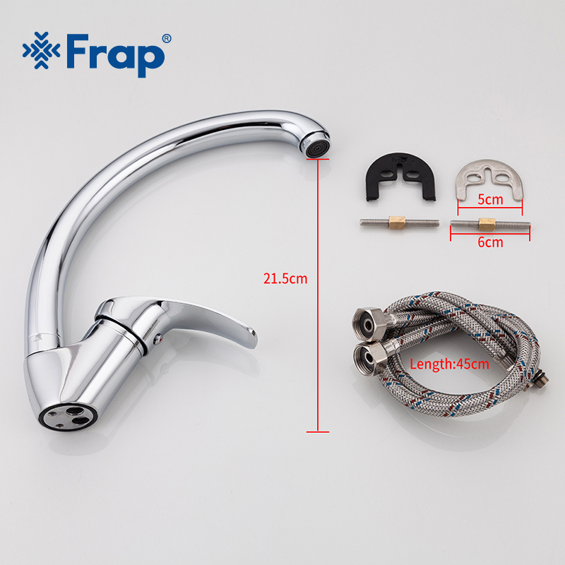 FRAP Solid Kitchen Mixer Cold and Hot flexible Kitchen Tap Single lever Hole Water Tap Kitchen Faucet Torneira Cozinha F4136-B