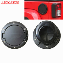 Black Aluminum Car Styling Oil Fuel Gas Tank Cover Cap With Logo For Jeep Wrangler JK 2007-2017 Models Accessories Kit shineka zinc alloy abs base fuel tank cover gas cap cover oil filler 2 4 door for jeep wrangler jk 2007 2016