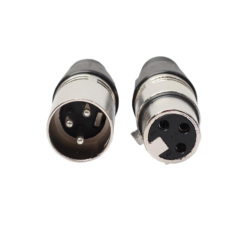 10 Pairs XLR Adapter 3 Pin Stecker und MIC Jack Mikrofon Audio Kabel ...
