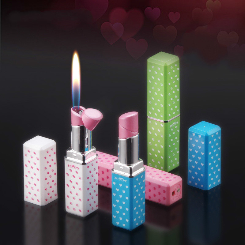 Personality Girl Student Lipstick Lighter Originality Inflation Flame Fund Lighter