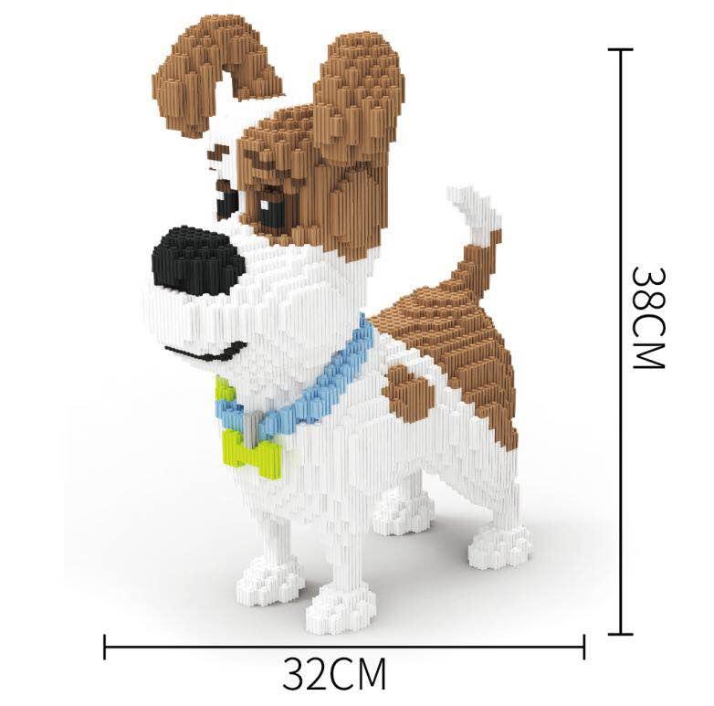 Xizai blocs jouet de construction grande taille Cartoo chien modèle animaux briques de construction jouets animaux de compagnie Brinquedos pour enfants cadeau de noël