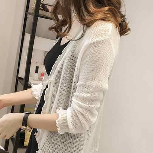 Clobee 2019 se encoge de hombros para feminino blusa tridot suits otoño sexy mujer tejido suéter femenino de manga larga chaquetas cárdigan S356