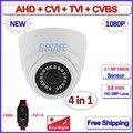 1080 P 720 P 1MP AHD câmera dome 2MP HDCVI 4em1 HDTVI CVBS câmera de segurança com Lente de 3.6mm, 18 pcs LEDs, F22 Sensor, OSD, DNR, UTC