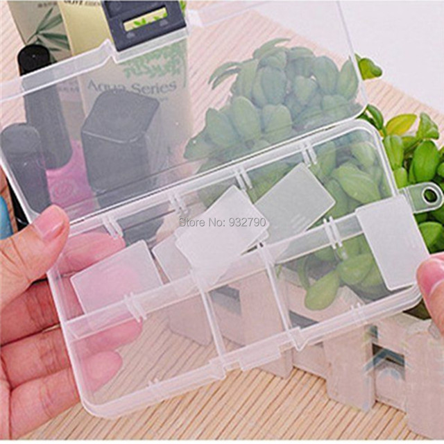 Jewelry Container Storage Box Bead Organizer Case Display 10 Grid