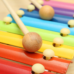 Image 4 - Wooden 8 Tones Multicolor Xylophone Wood Musical Instrument Toys For Baby Kids BM88