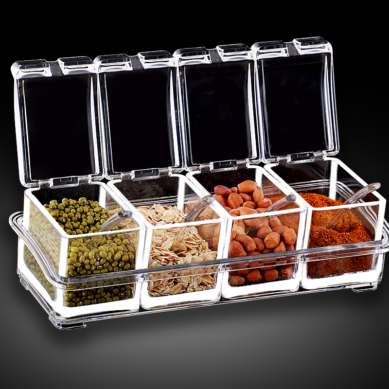 European Flavor Seasoning Jar Set 2017 Box Kitchen Condiment Box Scrylic Spices Storage Box Seasoning Boxes