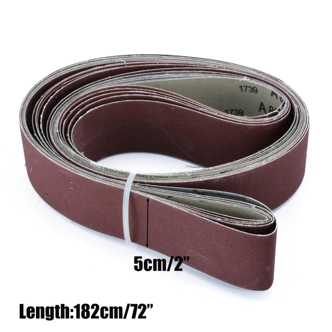 6Pcs 180/240/320/400/600/800 Grit 2 X 72 Grit Sanding Belts for Abrasive Tool Wood Metal Oxide Sander Belt Power Tools Mayitr