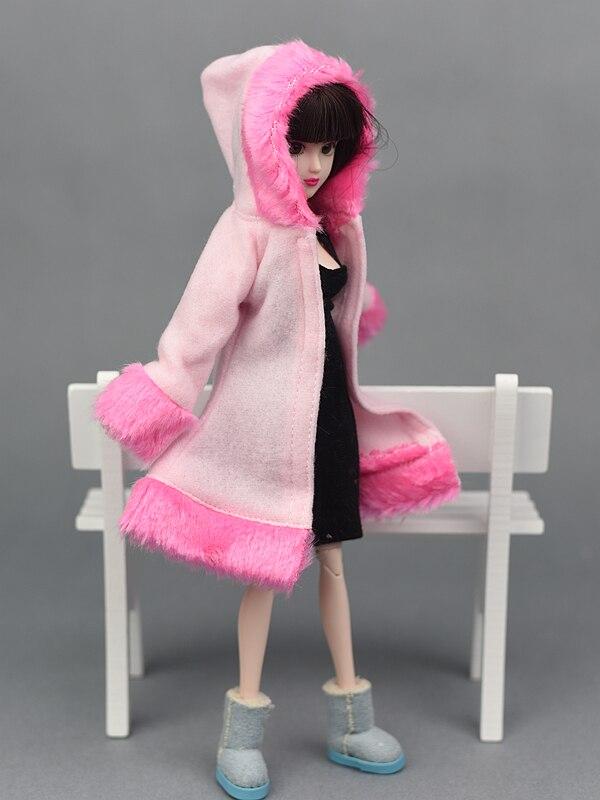 Dockningsartiklar Vinterdräkt Varmt pälsrockklädsel för Barbie - Dockor och tillbehör - Foto 5