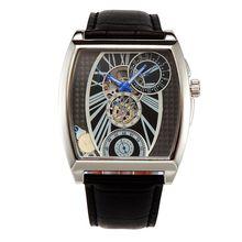 Caliente del nuevo del Mens marca Oulm Relojes esqueléticos mecánicos Montres de Marque de Luxe Relojes Lujo Marcas hombres de negocios de pulsera