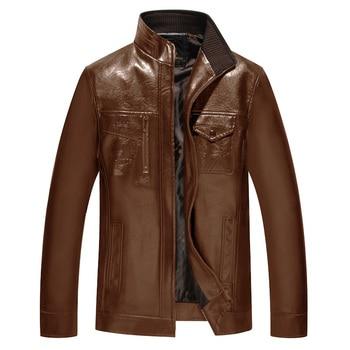 Nice Biker Jacket Men PU Jackets Coats Motorcycle Leather Jackets Men Autumn Spring Leather Zipper Men High Quality Coat 6XL