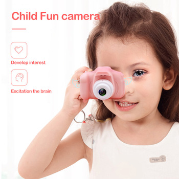 2 Inch HD Screen Chargable Digital Mini Camera Kids Cartoon Cute Camera Toys Outdoor Photography Props for Child Birthday Gift 2