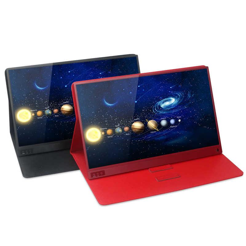 LCD موداتور المحمولة LCD FHD 1080P شاشة USB نوع C HDMI لأجهزة الكمبيوتر المحمول الهاتف Xbox التبديل و PS4 lcd شاشة عرض ألعاب 15.6 بوصة