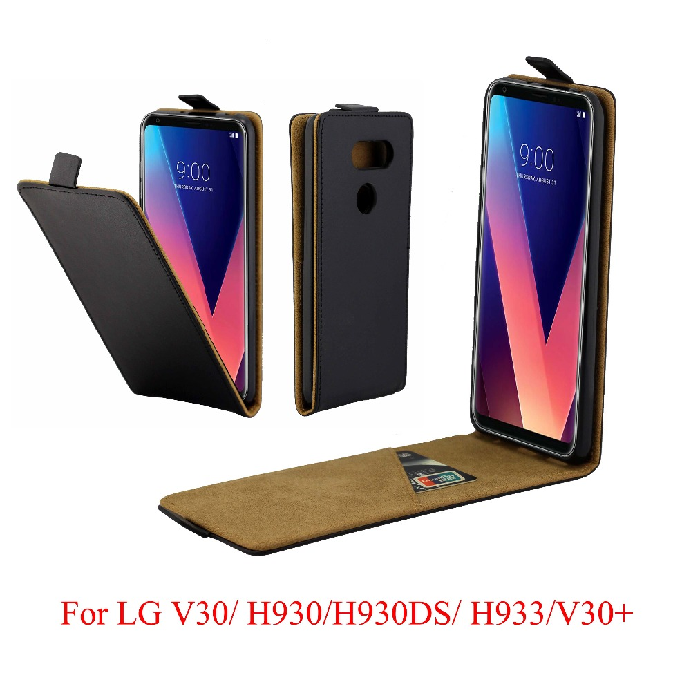 US $4 99 |For LG V30+ Cover Luxury PU Leather Flip Case For LG V30 Plus  V30+ Vertical Open Down Up Cover For LG V30 V 30 Phone Case 6 0''-in Flip
