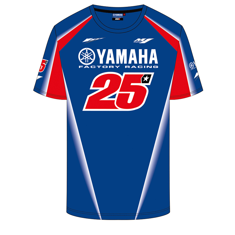 2018 MOTO GP Maverick Vinales 25 for Yamaha Factory Motorcycle Team Racing T-shirt ...