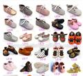 100 pairs hard sole shoes Polka dot baby oxfords shoes genuine leather baby moccasins lace up first walkers Toddler newborn
