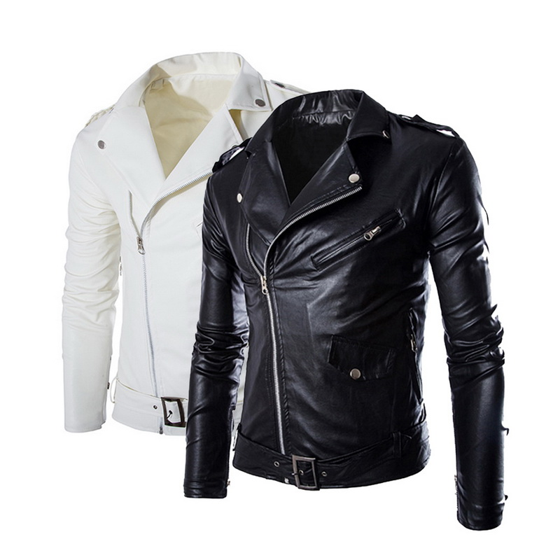 Oeak Brand Men Leather Jackets Casual Zipper Men's Motorcycle Faux Jacket Male Autumn Streetwear Slim Fit Overcoat Plus Size