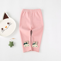 Children Autumn Winter   Baby   Kids Girls Infants Princess Cartoon Rabbit Leggings Velvet Trousers Princess   Pants   Pantalones S7825