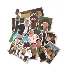 19 Pcs/set DMLSKY Brickleberry Funny Cartoon PVC Scrapbooking for Car Luggage Laptop Decal Home Bedroom Diy Decoration M3297