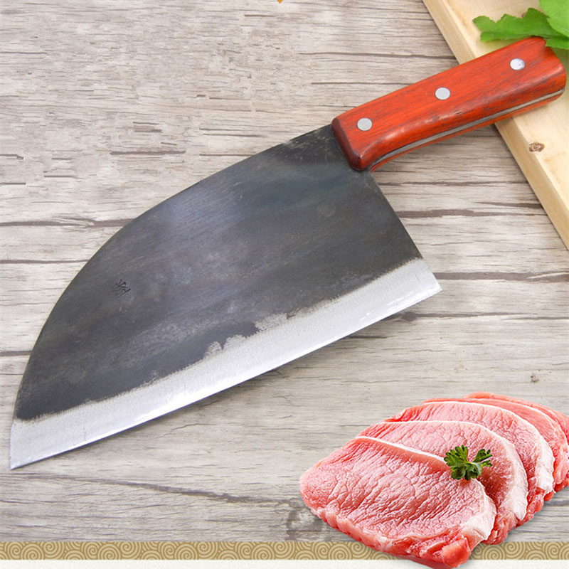 New Kitchen Knife Chef Knives Handmade Forged Full Tang High-carbon Clad Steel Professional butcher knife Cleaver Meat SantokuNew Kitchen Knife Chef Knives Handmade Forged Full Tang High-carbon Clad Steel Professional butcher knife Cleaver Meat Santoku