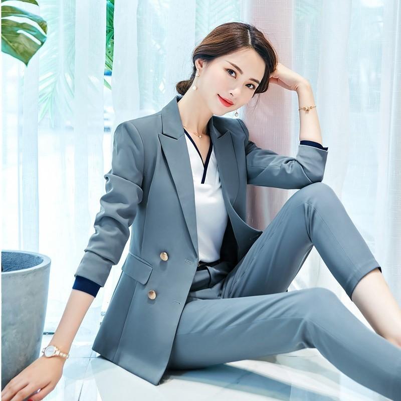 Formal Women Blazers Jackets Coat Long Sleeve Autumn Winter Ladies Office Work Wear Outwear Tops Clothes Uniform Styles