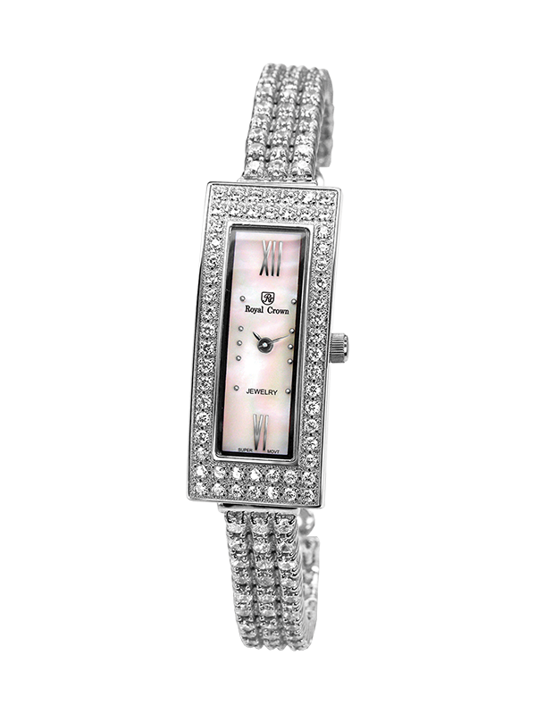 Royal Crown Jewelry Watch 2311LB Italy brand Diamond Japan MIYOTA platinum bracelet fashion trend strip women's classic female royal crown jewelry watch 1514b italy brand diamond japan miyota platinum bracelet korean version female watch fashion