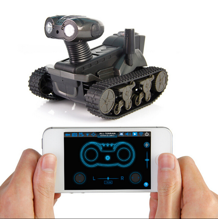 RC Tank WIFI I Android/ISO Wireless Tank 2.4G 4CH Electric Remote Control with Real-Time Camera Tank Toy Kids Hobby Model wifi mini rc camera tank car ispy with video 0 3mp camera 777 270 remote control robot with 4ch suppots by iphone android app