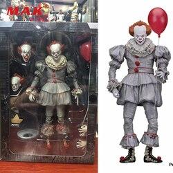 18 см ПВХ аниме фигурка Стивен Кинг это злой Джокер клоун Pennywise модель игрушки 2017 Ужасы для фанатов Коллекционные сувениры
