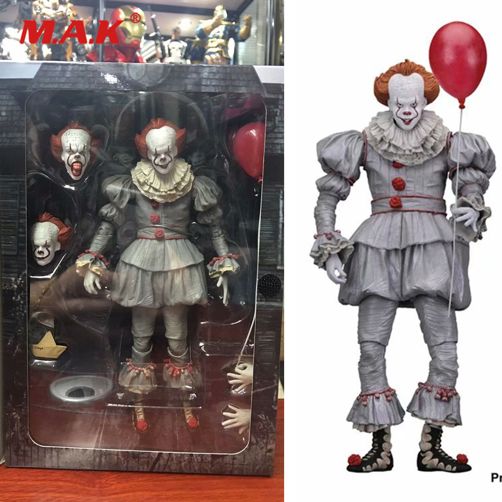 18cm PVC Anime Figure Stephen King's It Evil Joker the Clown Pennywise Figure Model Toys 2017 Horror for Fans Collectible Gifts(China)