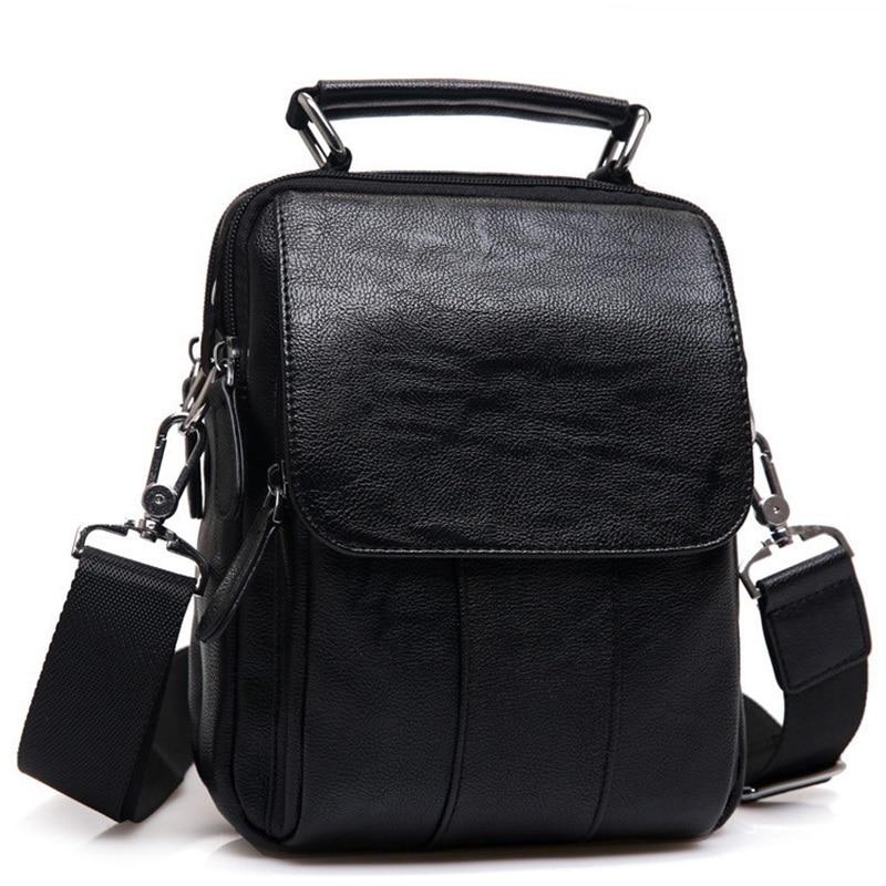 새로운 브랜드 가죽 남성 숄더 가방 패션 핫 남성 핸드백 작은 Crossbody 메신저 가방 여행 Bolsa Brown Men 's Satchels